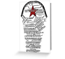 The Winter Soldier Quotes Greeting Card