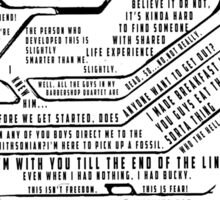 The Winter Soldier Quotes Sticker