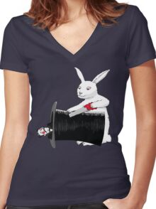 Rabbit vs. Magician Women's Fitted V-Neck T-Shirt