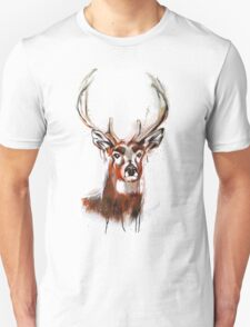 Antler Deer Graffiti Art T-Shirt