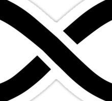 The 100 - Infinity symbol black Sticker