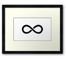 The 100 - Infinity symbol black Framed Print