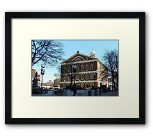 Faneuil Hall from the Street Framed Print