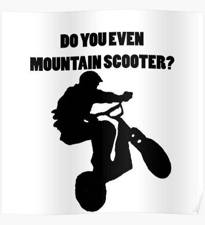 Mountain Scooter Poster