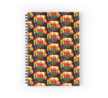 Xmas Candle Viking Boat Spiral Notebook