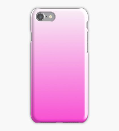White Fade to Pink Ombre Shaded Fade iPhone Case/Skin