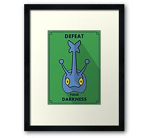 Heracross - Defeat Your Darkness Framed Print