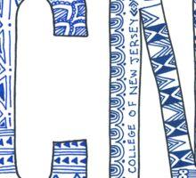 TCNJ Doodle Sticker