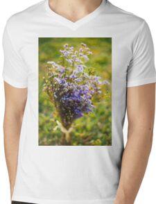 Purple Blossoms Mens V-Neck T-Shirt