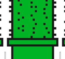 3 many pattern design pixel nerd geek gamer videogame 2d 8 bit cactus design games zocken Sticker