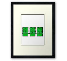 3 many pattern design pixel nerd geek gamer videogame 2d 8 bit cactus design games zocken Framed Print