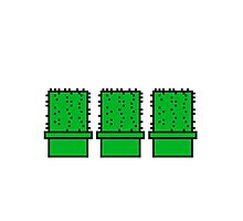 3 many pattern design pixel nerd geek gamer videogame 2d 8 bit cactus design games zocken Photographic Print
