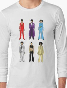 Outfits of Prince Fashion on White Long Sleeve T-Shirt