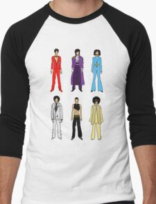 Outfits of Prince Fashion on White Men's Baseball ¾ T-Shirt