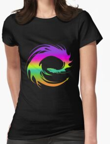 Colorful Eragon Dragon Womens Fitted T-Shirt