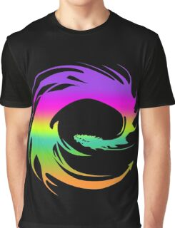Colorful Eragon Dragon Graphic T-Shirt