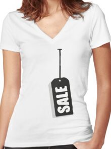 Sale Women's Fitted V-Neck T-Shirt