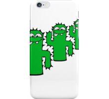 3 funny kakten team buddies pattern face comic cartoon cactus natural sweet cute small iPhone Case/Skin