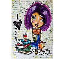 I Love Books 2 Photographic Print