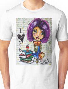 I Love Books 2 Unisex T-Shirt