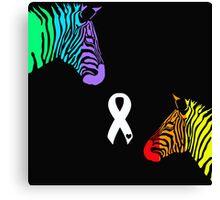 Zebras Ribbon Canvas Print