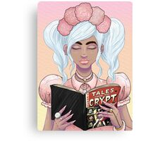 Girls read comics too! Crypt Canvas Print