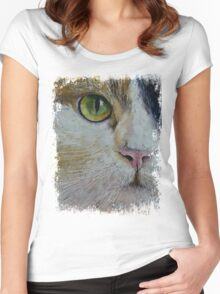 Calico Cat Women's Fitted Scoop T-Shirt