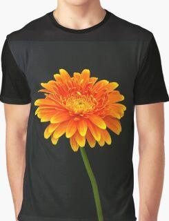 A Floral Portrait Graphic T-Shirt