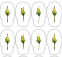Yellow Rose Bud Sticker