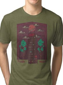 The Towering Bed and Breakfast of Unparalleled Hospitality Tri-blend T-Shirt