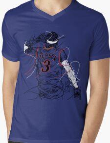 Allen Iverson Mens V-Neck T-Shirt