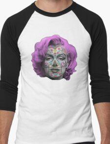 Marilyn Sugarskull Men's Baseball ¾ T-Shirt