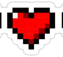 Pixelated Heart HP health points Sticker