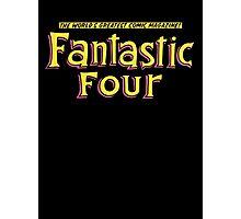 Fantastic Four - Classic Title - Clean Photographic Print