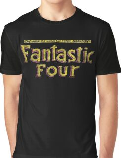 Fantastic Four - Classic Title - Dirty Graphic T-Shirt