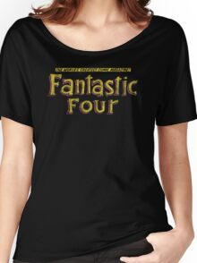 Fantastic Four - Classic Title - Dirty Women's Relaxed Fit T-Shirt