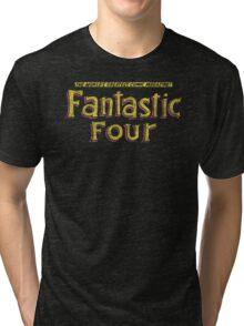 Fantastic Four - Classic Title - Dirty Tri-blend T-Shirt