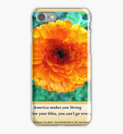 America Strong Sunflower Covers iPhone Case/Skin