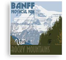 Visit Banff Canvas Print