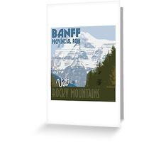 Visit Banff Greeting Card