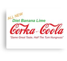 Corka-Coola Diet Banana Lime Canvas Print