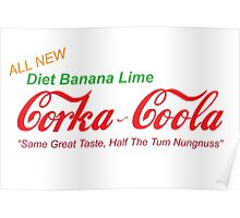 Corka-Coola Diet Banana Lime Poster