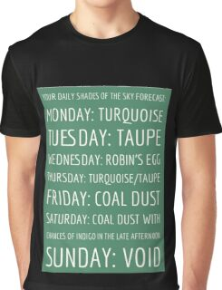 Daily Shades of the Sky Forecast Graphic T-Shirt