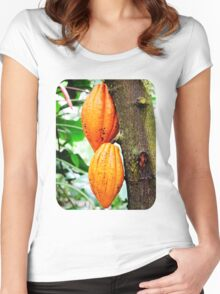 Cacao Fruit  Women's Fitted Scoop T-Shirt
