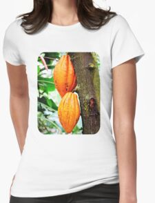 Cacao Fruit  Womens Fitted T-Shirt