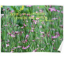 Purple Wildflower of Poets Poster
