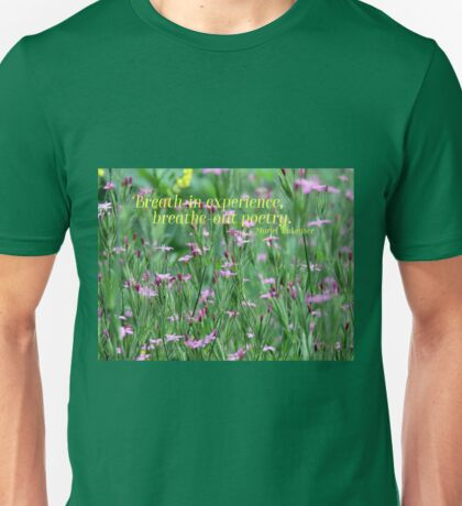 Purple Wildflower of Poets Unisex T-Shirt