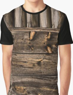 Weathered Wooden Abstracts – Four – Vertical Graphic T-Shirt