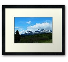 Calf Robe Mountain,  Springtime Framed Print