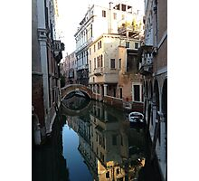 Canal Reflections Venice Italy Photographic Print